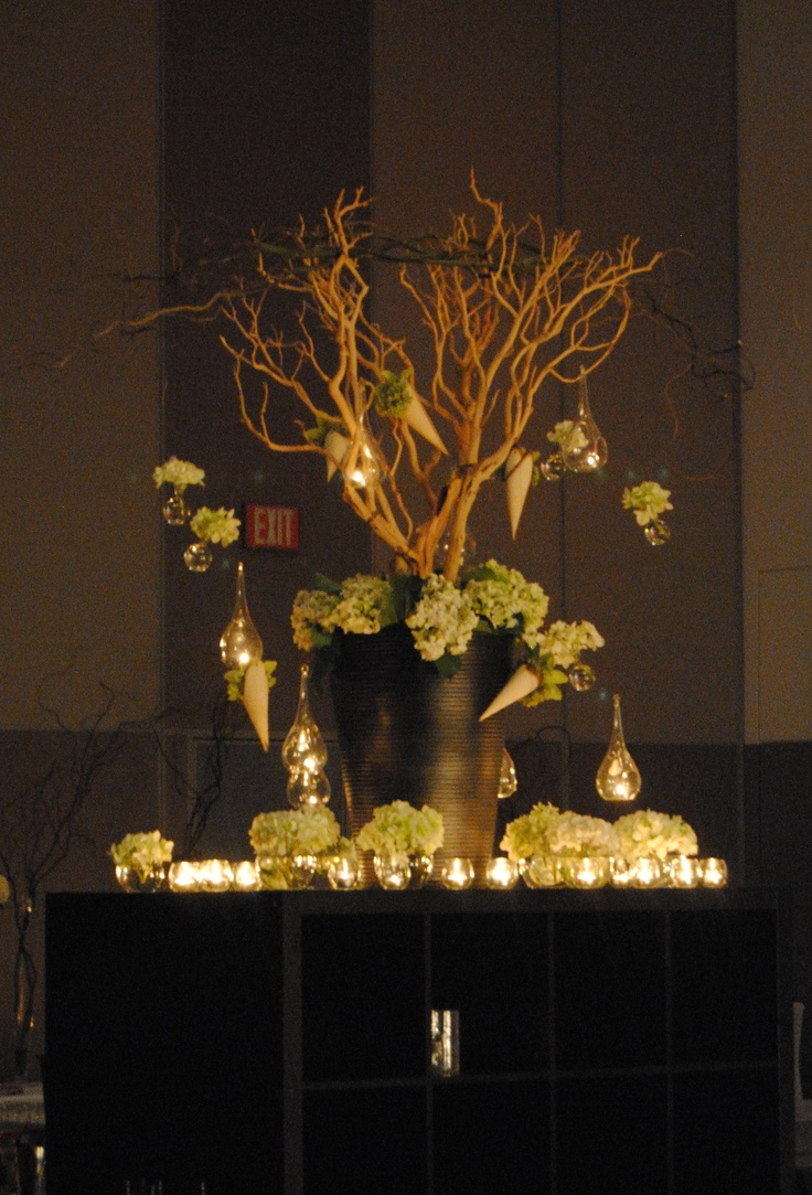84 best lexi images on pinterest wedding tables weddings and a manzanita tree with hanging vases of hydrangea and candles for this wedding reception reviewsmspy