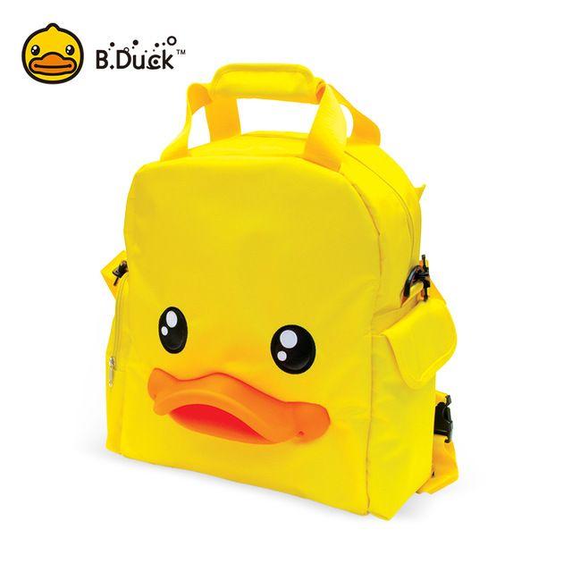 B. Duck Moda Múmia Saco De Fraldas Maternidade PVC 3D Duck Bill grande Capacidade de Saco de Viagem Do Bebê Saco Mochila Designer De Enfermagem Bebê cuidados