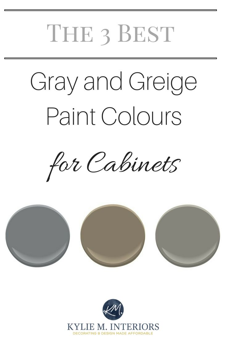 the 3 best medium toned gray and greige paint colours for kitchen cabinets and bathroom vanities