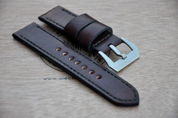 24mm maroon watch strap by CentaurStraps on Etsy