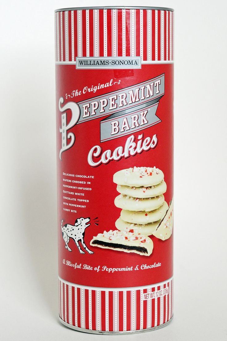 "Per the reviewer, ""Williams-Sonoma Peppermint Bark Cookies       How can we possibly count the ways in which we love Williams-Sonoma Peppermint Bark Cookies ($25)? The chocolate cookies themselves taste just baked and have a crispy, flaky texture that pairs really nicely with the white chocolate and crunchy peppermint bits."""