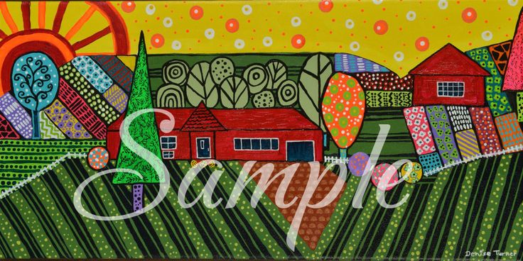 IL GIARDINO NOSTRO 10 x 20 Art Print by PositivelyArt on Etsy.A wonderful rendition of a local immigrant garden.  Patterns, variety and passion are the basis of this lovely garden.  www.positivelyart.ca