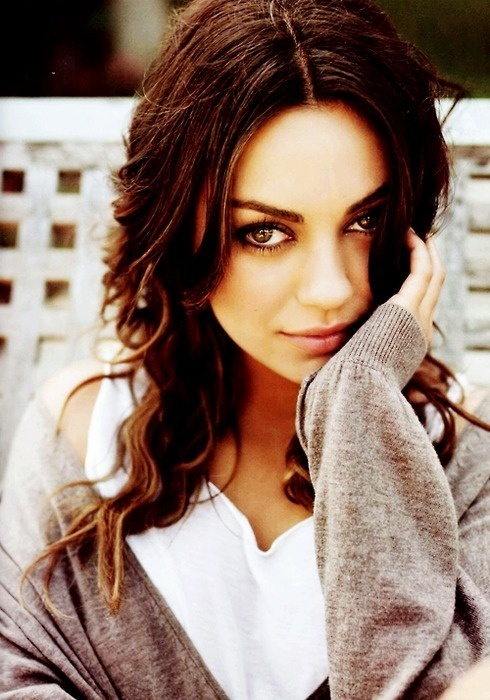 The beautiful Mila Kunis. My favorite actress. She migrated to the USA from the Ukraine at age 7. Ukrainian women are beautiful 