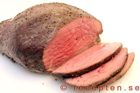 Rostbiff - Recept på engelsk och fransk rostbiff som görs på benfritt nötkött av rostbiff, fransyska eller innanlår.