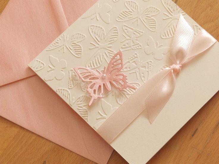 Handmade cristening invitation/Baptism invitation/Baby shower invitation/Handmade wedding invitation/Butterfly invitation by mirelaemilia on Etsy