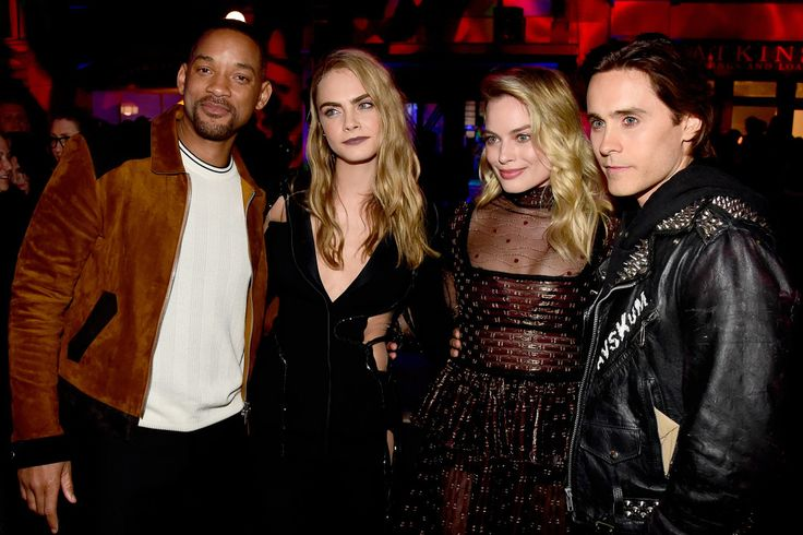 Will Smith, Cara Delevingne, Margot Robbie and Jared Leto - 2016 MTV Movie Awards