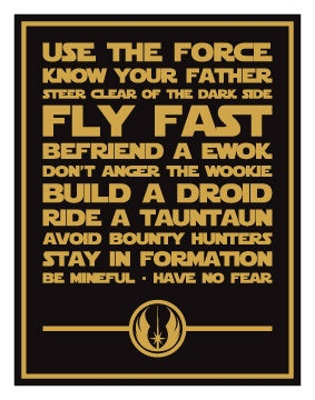 Star Wars Inspired Quotes Digital Art Print 14x11 by sushimunki, $12.00
