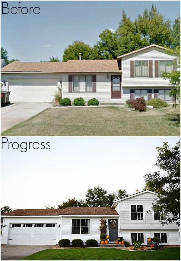 17 best images about home exterior on pinterest paint for Quad level home remodel