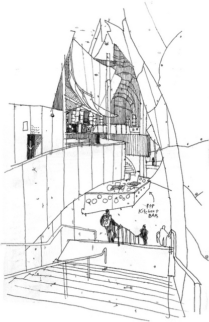 sketching architecture - emplobby by gabi campanario http://pinterest.com/ajoia/architecture-creation/