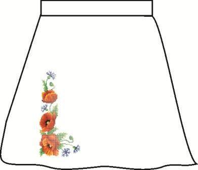 Льняная серая детская юбка СПДЛ-3
