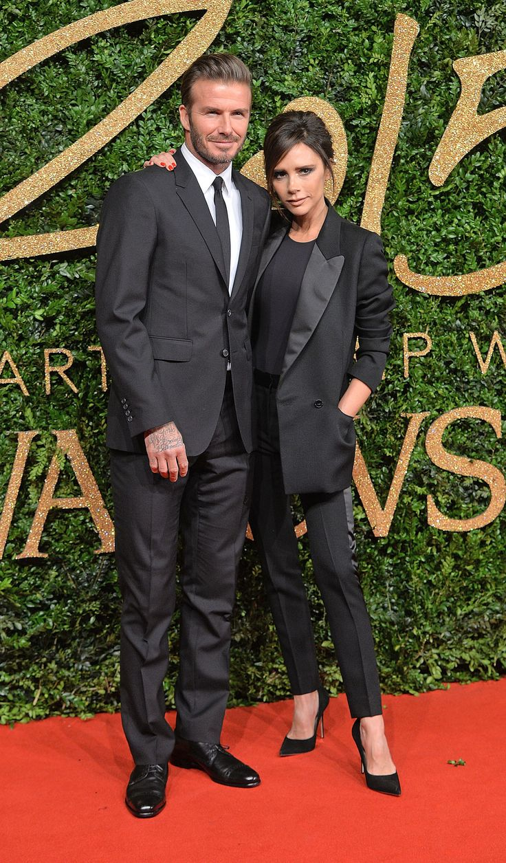 David et Victoria Beckham aux British Fashion Awards