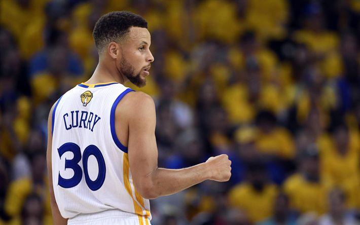Download imagens 4k, Stephen Curry, estrelas de basquete, NBA, Cleveland Cavaliers