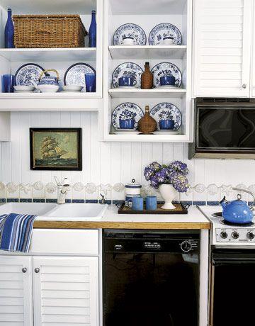 Nautical Kitchensnavy And Yellow Kitchens