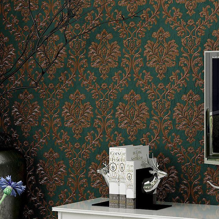 38.40$ Watch now - beibehang style Damascus pvc <b>wallpaper</b> AB ...