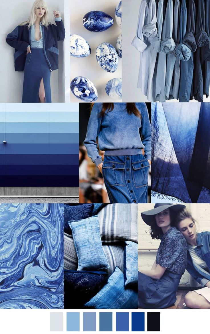 2017 pattern & colors trends: TRUE BLUE color palette. Trend in fashion. For more follow www.pinterest.com/ninayay and stay positively #inspired