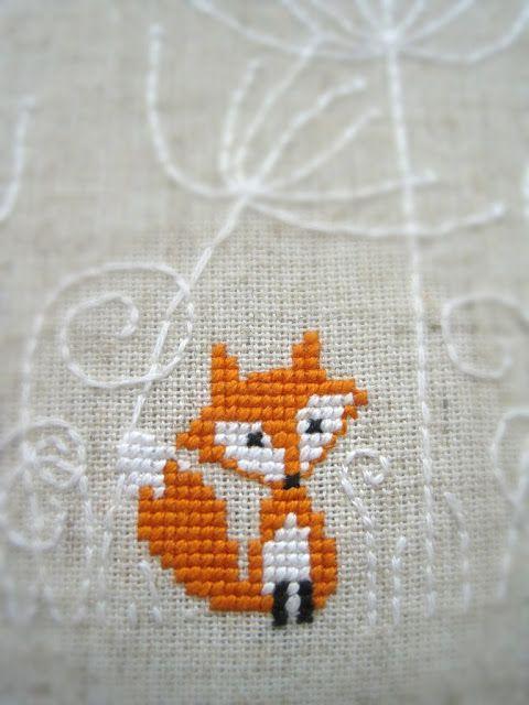 Cross stitch fox - Leuk patroon, die kan ik vast nog wel ergens in een DIY gebruiken!
