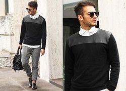 Zara Sweater - LEATHER DETAILS - Lorenzo Liverani