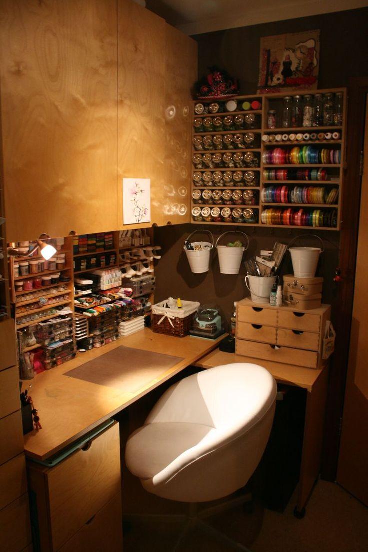 my work area - Scrapbook.comScrapbook Crafts, Crafts Area, Scrapbook Com, Work Areas, Crafts Room, Work Spaces, Offices Area, Crafts Corner, Small Spaces
