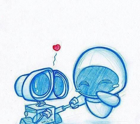 Wall e y eva inspirational thing to draw pinterest drawings drawing ideas and drawing stuff for Wall e tattoo