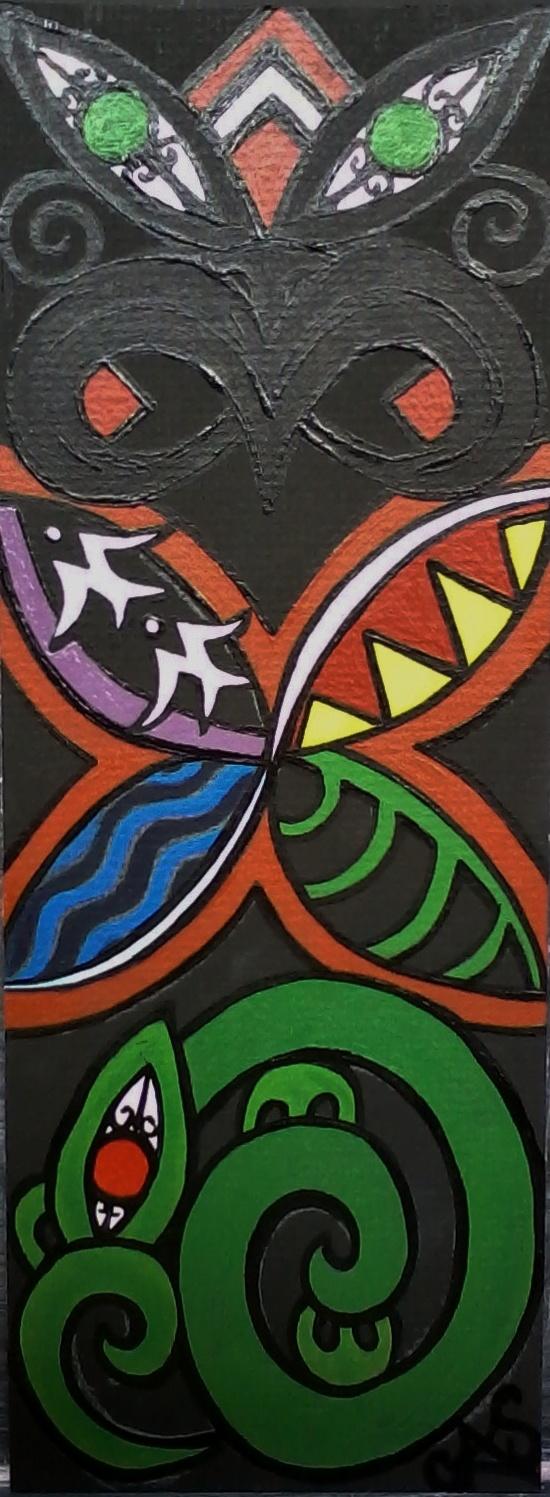 """Waiata's Graduation Painting"" Chrissie Sullivan  LittleTaniwha"