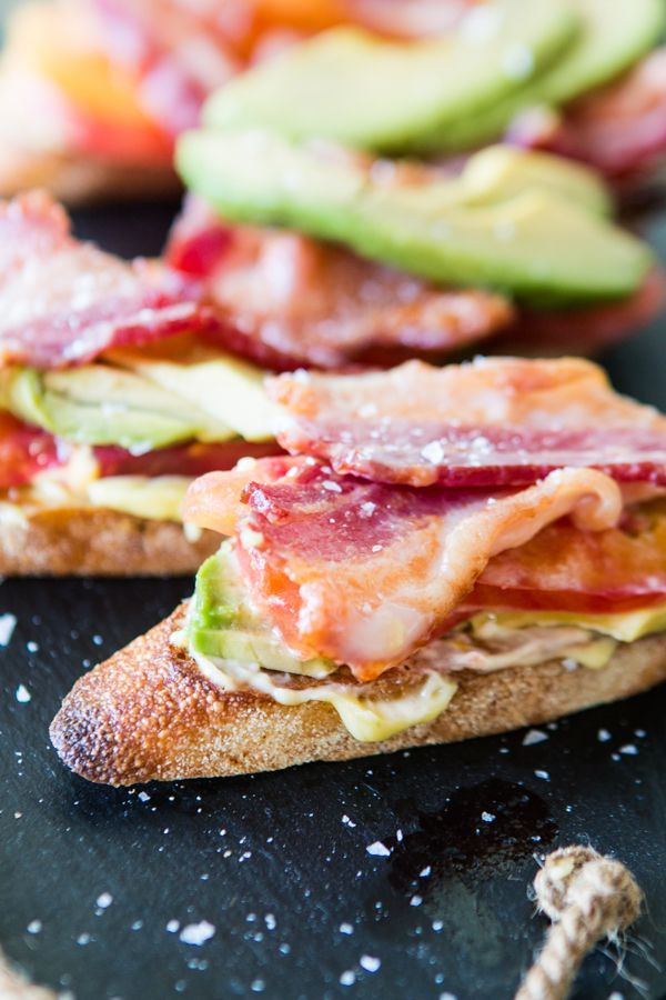 It's almost a BLT, minus the lettuce. Oh, and add avocado. Whatever these bacon tomato and avocado crostini appetizers are, they are all kinds of awesome.