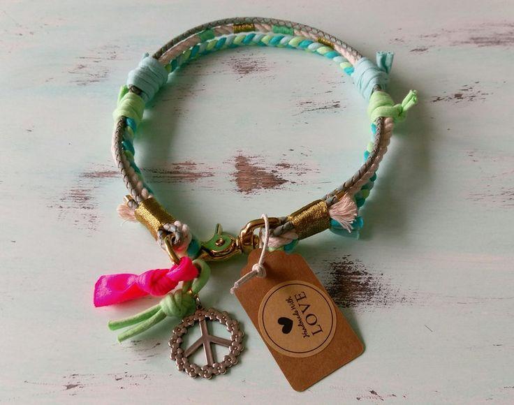 Hund: Halsbänder - Halsband Hippie Boho *Vagabond* ca. 54-56 cm - ein Designerstück von Felius_Flower bei DaWanda