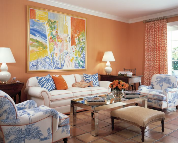 Die besten 25+ Orange wandfarben Ideen auf Pinterest - wohnzimmer orange rot