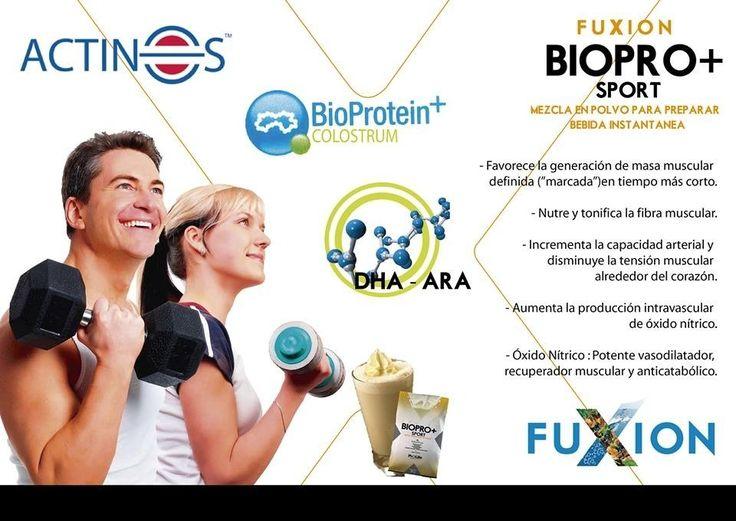 BIOPRO SPORT+ Provee la proteína del más alto valor biológico (Bioproteín+) complementada con Calostro Bovino, Factores de Transferencia Inmunológicos, Inmunoglobulinas (proteínas con acción inmunológica), Actinos (proteína que eleva la capacidad cardiovascular), micronutrientes e incrementadores de tejido muscular.  Pedidos e información para emprender tu negocio Fuxion: 0996800867