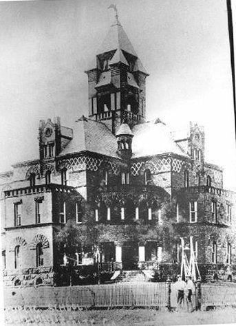 1894 J. Riely Gordon Brazoria County courthouse, Texas