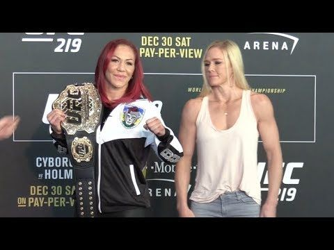 MMA UFC 219 Media Day Face Offs: Cris Cyborg vs Holly Holm