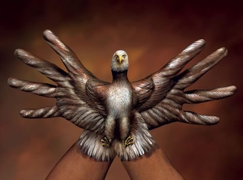 Eagle Body Painting