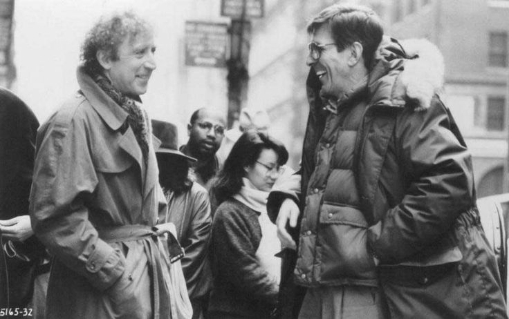 Gene Wilder and Leonard Nimoy on the set of Funny About Love