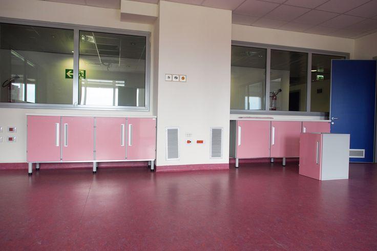 Arredi rosa per l 39 area di neonatologia ospedale aslbi for Arredi sanitari