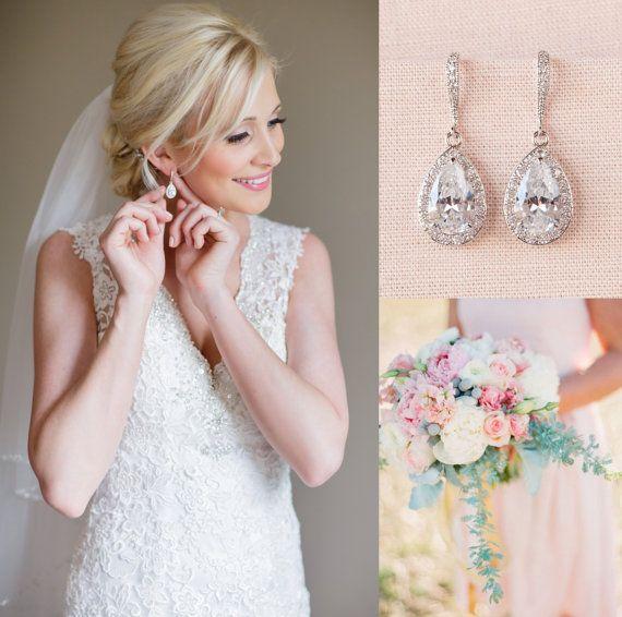 Crystal-Bridal Ohrringe Hochzeit Schmuck von CrystalAvenues auf Etsy
