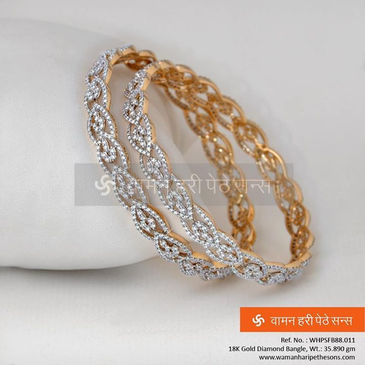 #Glimmering #Enlightening #Gold #Diamond #Bangles from our #Diamond Collection.
