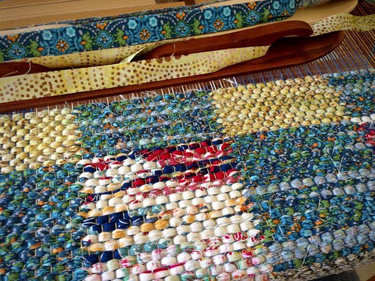 Две лыжные челноки для плетения двойной вязки тряпичные коврики.