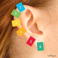 Pegador de roupa na orelha - Cura pela Natureza