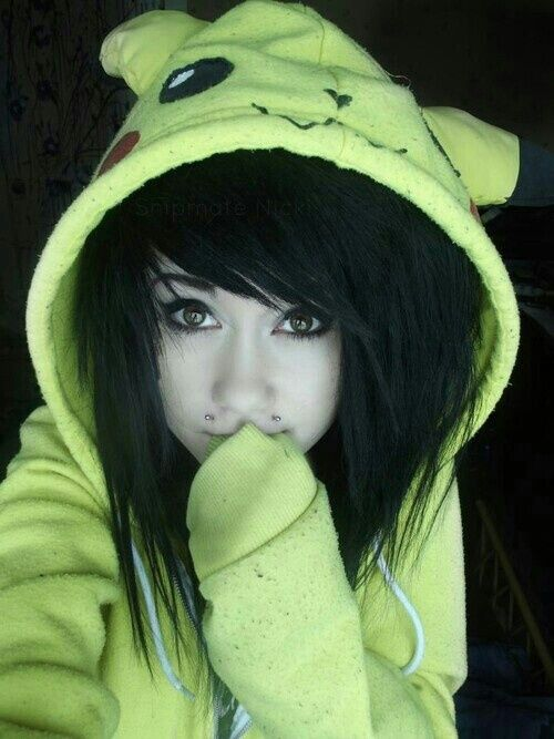 Image result for emo girl with hoodie