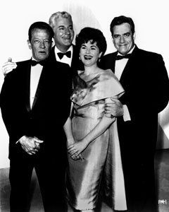 Perry Mason Cast Photograph with William Talman, William Hopper, Barbara Hale, Raymond Burr