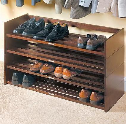 ντουλάπα ράφια συμβουλές οργάνωσης παπούτσι