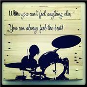 Music Drummer Pallet Art. 50cmx50cm or 1mx1m