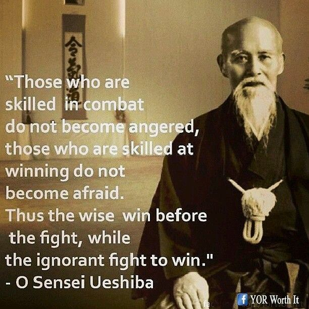 Those who are skilled in combat do not become angered, those who are skilled at winning do not become afraid. Thus the wise win before the, while the ignorant fight to win. PARTAGE OF MARK UTKIN..........ON FACEBOOK...... Warrior quote yoga