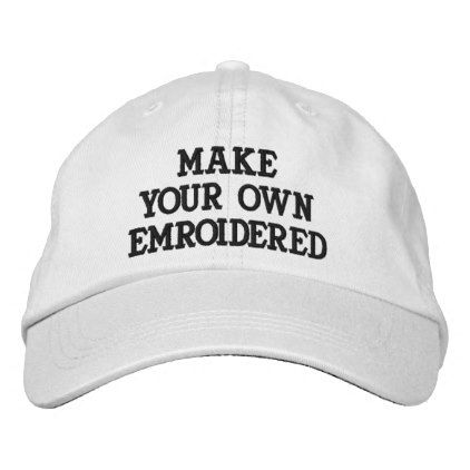 Custom Personalized White Embroidered Baseball Cap - create your own gifts  personalize cyo custom  40976ef5276e
