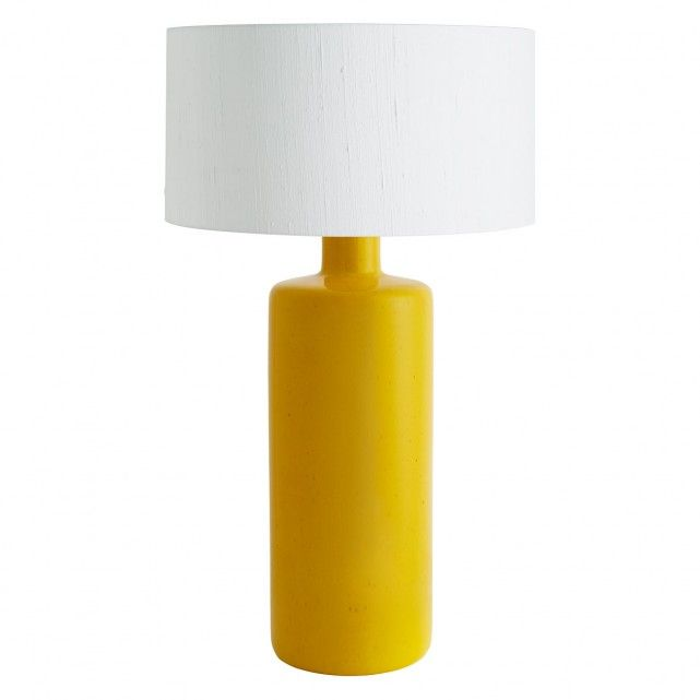 The Freesia Large Yellow Ceramic Table Lamp Base Combines A Sunny Colour With Height To Make A Strong Statement To A Room Br Table Lamp Lamp White Lamp Shade