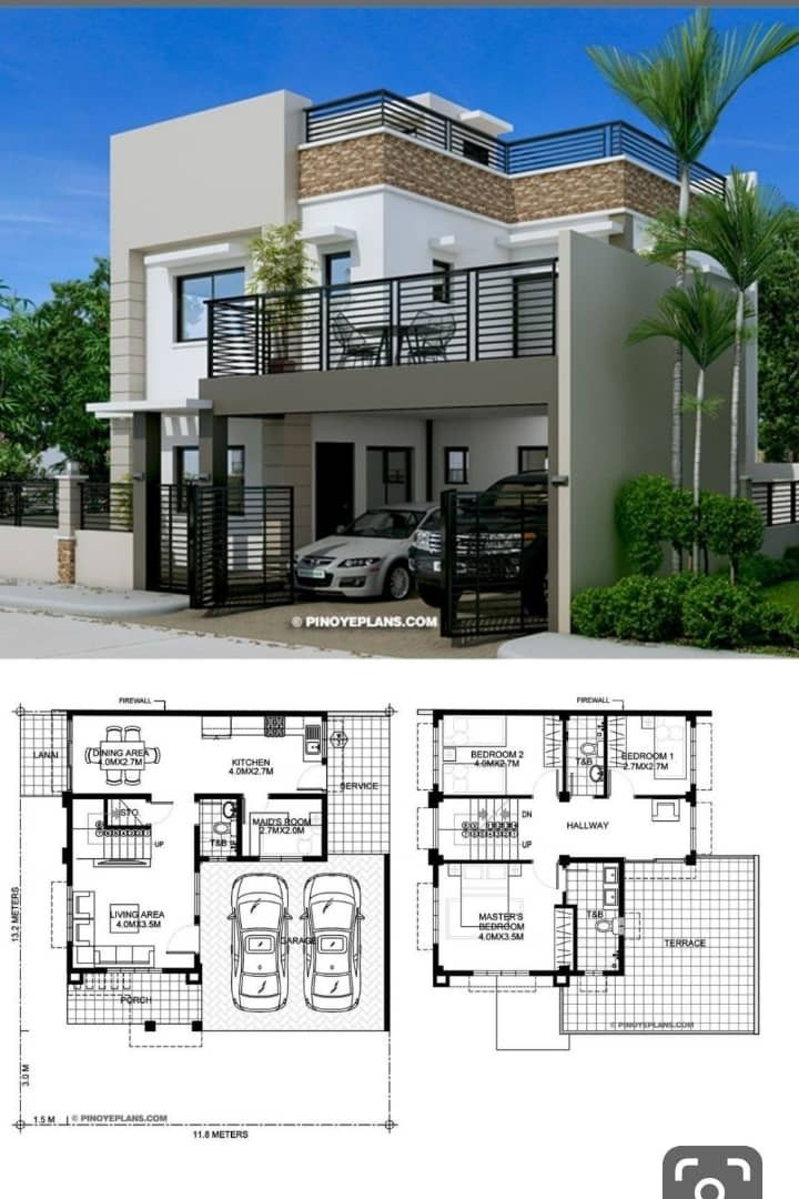 Pin By Kofi Oteng On Houseplan Bungalow House Design House Layouts Duplex House Plans