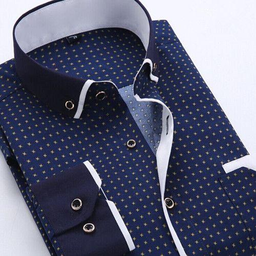 Men's Shirts, Spring Collar Long Sleeve Slim High Quality