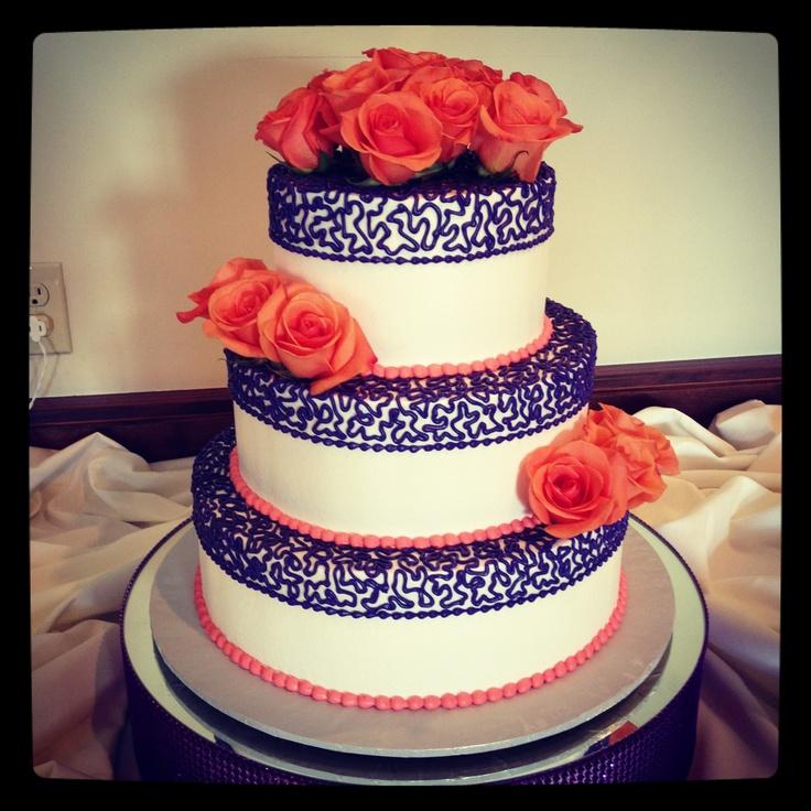 Purple Orange Wedding Ideas: Purple And Orange Wedding Cake