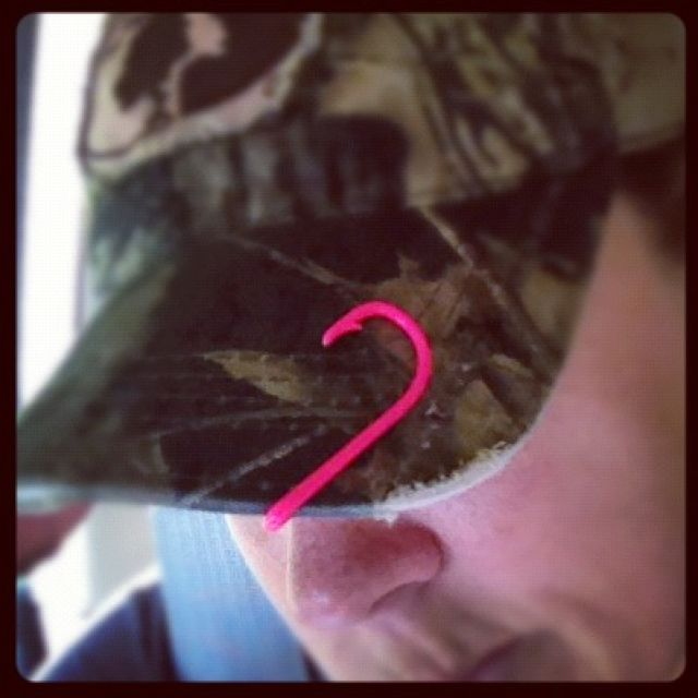 472 best a country girl can survive images on pinterest for Fish hook on hat