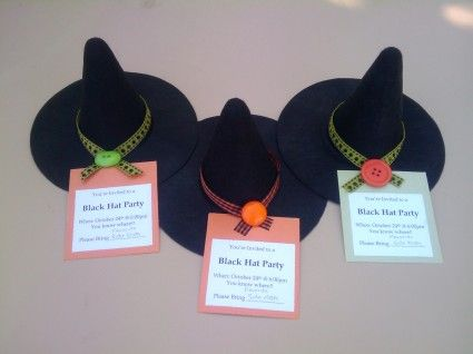 Witch Hat party invites