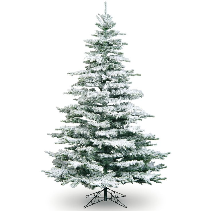 the medium flocked noble artificial christmas tree is perfect for recreating a winter wonderland feel in your own home this snow covered tree creates a - Real Looking Christmas Trees